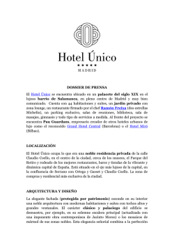 Kit de prensa - Único Hotels