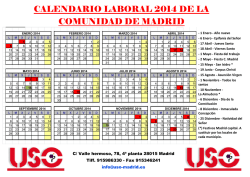 Calendario Laboral 2014 - FTSP-USO-Madrid