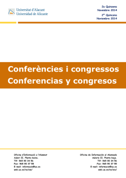Conferencias y Congresos - Universidad de Alicante