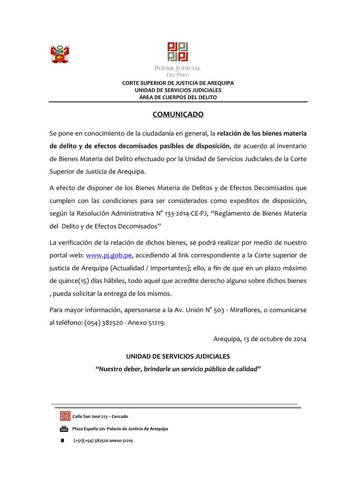 COMUNICADO - Poder Judicial del Perú e2aa2ac6dd6