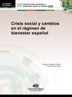 Crisis social y cambios en el régimen de bienestar español - Foessa