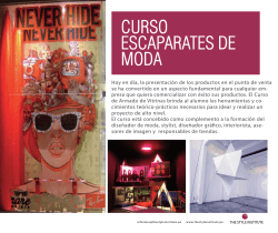 CURSO ARMADO DE VITRINAS - The Style Institute