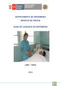departamento de enfermeria servicio de cirugia guías de cuidados
