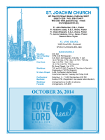 OCTOBER 26, 2014 - St. Joachim Church