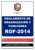 ROF - Municipalidad Provincial de Sullana