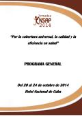 PROGRAMA GENERAL - ENSAP | Escuela Nacional de Salud Pública