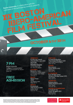 XIX Boston iibero -American Film Festival - Brandeis University