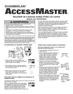 ADVE ADVER ADVERTENCIA - LiftMaster