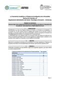 Terminos de referencia 2015-I - Posgrado - Universidad Nacional