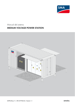Manual del sistema MEDIUM VOLTAGE POWER STATION
