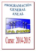 Programación General Anual del Curso 2014-2015 - IES Pando