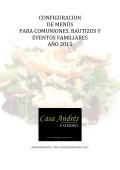 menús para comuniones 2015 - Catering Casa Andrés