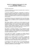 MENSAJE DEL PRESIDENTE CONSTITUCIONAL DEL - Inicio