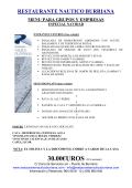 30.00€UROS - RESTAURANTE NAÚTICO BURRIANA