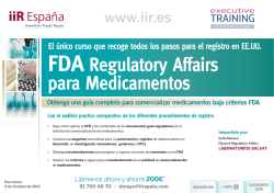 FDA Regulatory Affairs para Medicamentos - iiR España