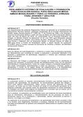 Reglamento de Evaluacion - Porvenir School