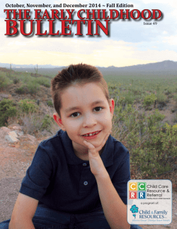 the early childhood bulletin - Arizona Child Care Resource and