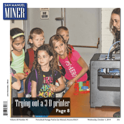 10/1/2014 San Manuel Miner - Copper Area News Publishers