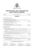 Boletín 141/2014, de fecha 27/10/2014 - BOP Santa Cruz de Tenerife