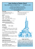 Saint Anthony of Padua Church - E-churchbulletins.com