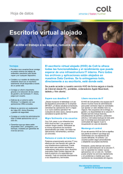 Escritorio virtual alojado - Colt IT Services