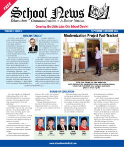 ® Modernization Project Fast-Tracked - School News Roll Call