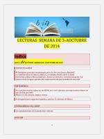 Lecturas de la Tercera Semana de Octubre 2014 - Insumisos