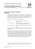 Informe de la Comisión de Verificación de Poderes