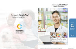 2014 - Community Health First - Community Health Plan of