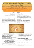 October 19, 2014 - Christ, the Good Shepherd Parish of Campbell
