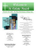 St. Colette Parish! - E-churchbulletins.com