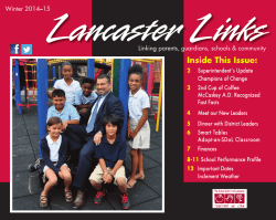 Inside This Issue: - The School District of Lancaster