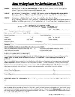 How to Register for Activities at ETHS - ETHS Theatre