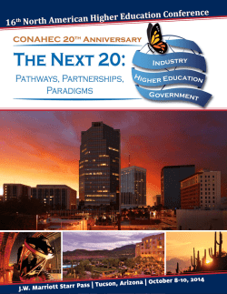 16th North American Higher Education Conference - CONAHEC