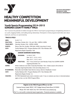 healthy competition meaningful development - Sonoma County YMCA