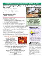 October 19, 2014 - Mission San Luis Obispo de Tolosa