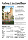 Bulletin / boletín - Our Lady of Guadalupe Catholic Church