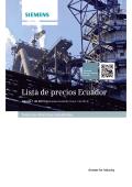 Lista de Precios - Siemens