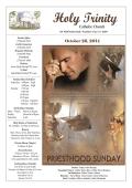October 26, 2014 - Holy Trinity Catholic Church
