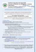 Inscripción CICLO LECTIVO 2015 - Instituto Argentino de Seguridad