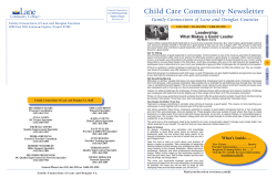 Fall 2014 Newsletter and Training Calendar - Lane Community