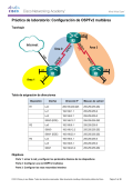 Práctica de laboratorio: Configuración de OSPFv2 multiárea