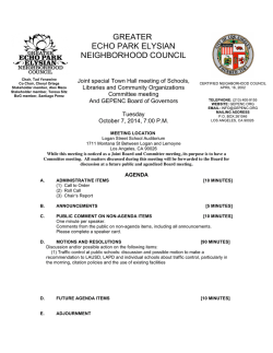 greater echo park elysian neighborhood council - The City of Los