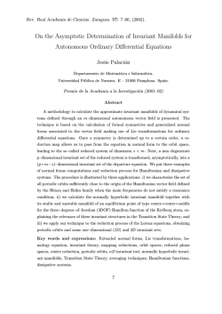 On the Asymptotic Determination of Invariant Manifolds for