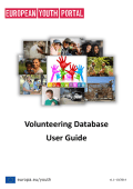 Volunteering Database User Guide - Erasmus+ JUGEND IN AKTION