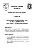 Diplomado de Administración de la Calidad y Productividad