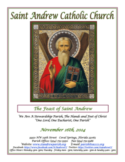 All Souls Day - St. Andrew Catholic Church