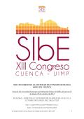 PROGRAMA XIII CONGRESO DE SIBE EN CUENCA 20 10 2014
