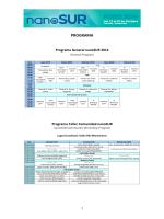 Programa del Foro nanoSUR 2014. - RedVNano