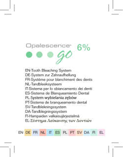 Opalescence Go 6% - Ultradent Products, Inc.